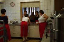 ein Teil der Küchencrew