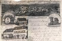 Ansichtskarte von Baerweiler, Postkartenstempel 10 05 1915