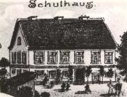 Eine Zeichnung vom alten Schulhaus von 1910