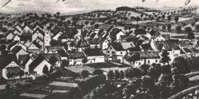 Eine Zeichnung vom Ort Baerweiler aus dem Jahr 1910