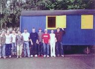 Der Bauwagen (blauer Flitzer)