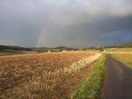 Gewitter über dem Dorf